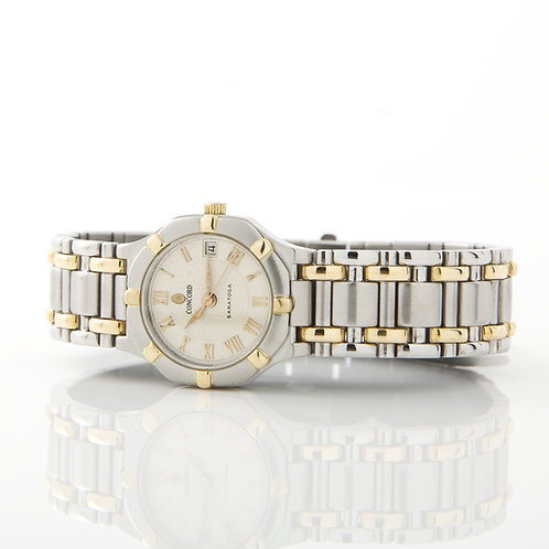 Concord Ladies Saratoga Watch, Stainless & Gold 15.73.287