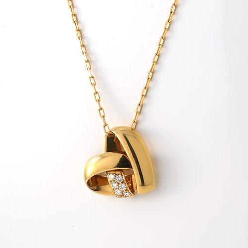 Van Cleef & Arpels 18K Gold & Diamond Heart Pendant