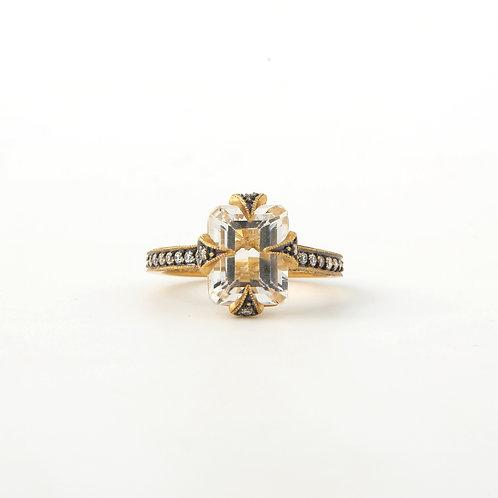 Cathy Waterman White Sapphire & Diamond Ring