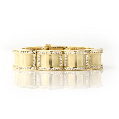 Charles Krypell Solid 18K Gold & Diamond Bracelet