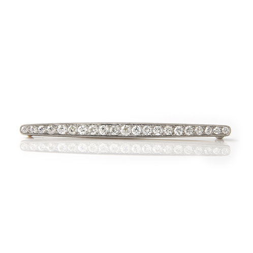Bailey Banks & Biddle Art Deco Diamond Bar Brooch, PLAT