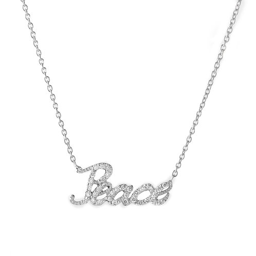14K Gold and Diamond 'Peace' Necklace