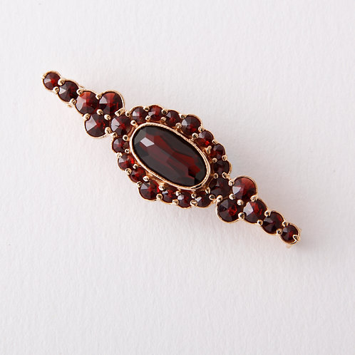 Vintage garnet brooch