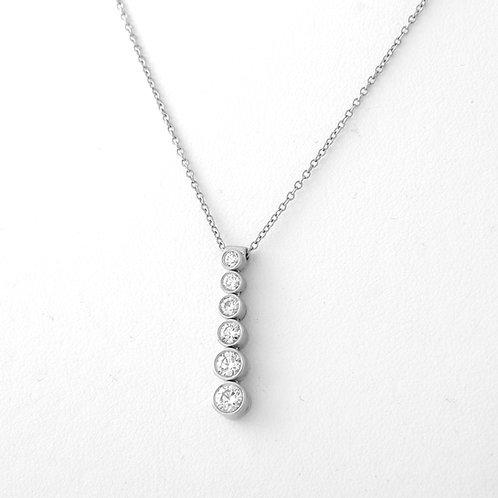 Tiffany & Co. Diamond Graduated Jazz Pendant/Necklace PLATINUM