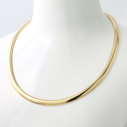 Omega Necklace 14K Yellow Gold 6mm