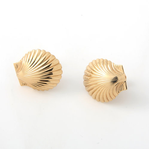 Tiffany & Co. Seashell Earrings 14k Yellow Gold Non Pierced