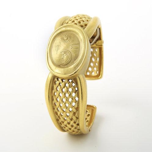 Barry Kieselstein Cord Yellow Gold Cuff Bangle Bracelet 18K