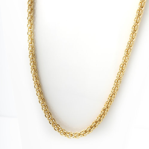 """Uni-Sex Rounded Link Chain 18K Yellow 26.5"""""""