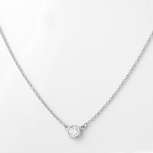 Tiffany & Co. Elsa Perriti Diamond Necklace PLAT 0.20 CT.