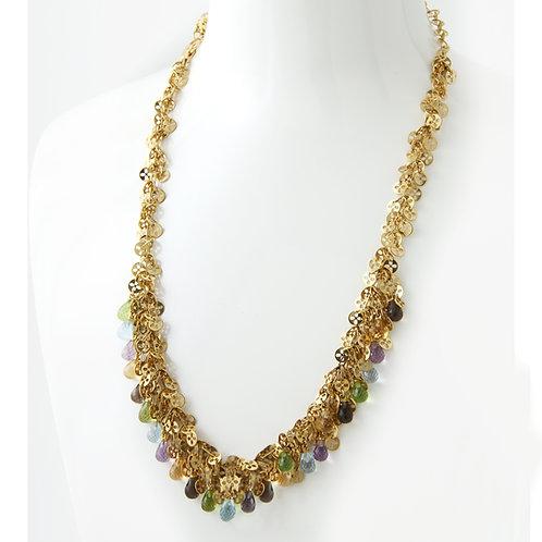 Chimento 18K Yellow Gold Necklace, Semi Precious Stones