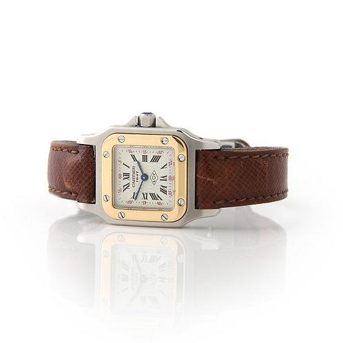 Cartier Vintage Santos Watch, Ladies Two Tone, Strap Box & Papers