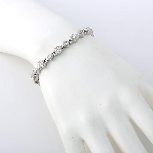 Doris Panos 18K White Gold & Diamond Bracelet