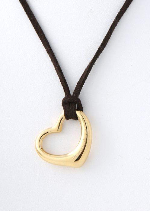 c15f318f8 Elsa Peretti medium, open heart pendant, for Tiffany and Co. 18K gold