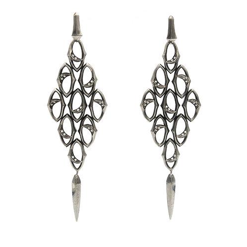 Stephen Webster Silver & Diamond Hanging Earrings
