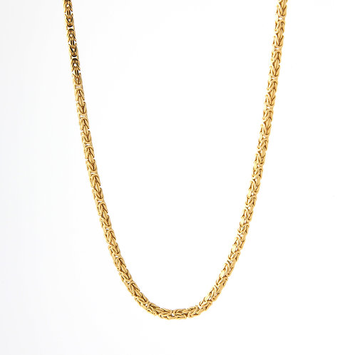 "Square Byzantine/Super Chain, 18K Yellow Gold 26.4gm, 20"""