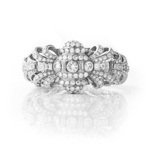 H. Stern Diamond Bracelet 1950's Platinum 18.0 CTTW