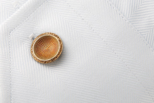 Antique double sided circular engraved cufflinks