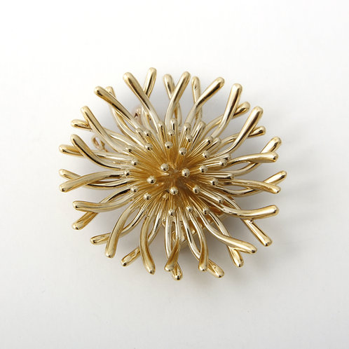 McTeigue Sunburst Brooch 14k Yellow Gold
