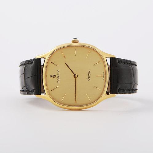 Corum Watch 18K Yellow Gold/ Leather Strap, Quartz