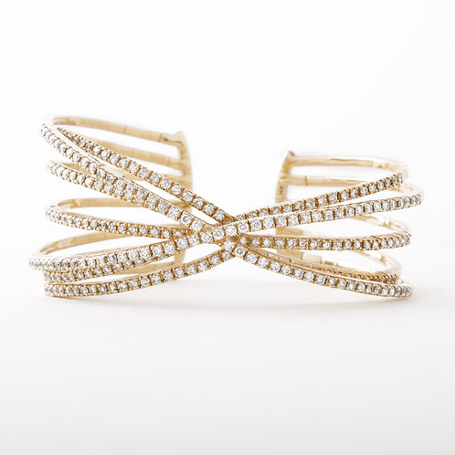14K Sonia B. Diamond Cuff Bracelet
