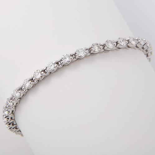 Diamond Tennis Bracelet 5.0 Carat, 14K White Gold