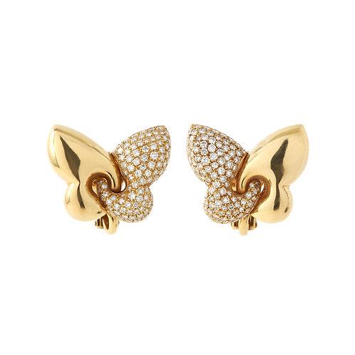 BULGARI Butterfly Earrings Pave Diamond