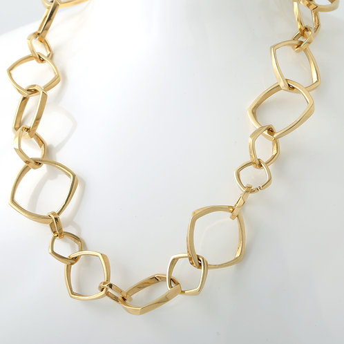 Tiffany & Co. Frank Gehry 18k Gold Torque Necklace