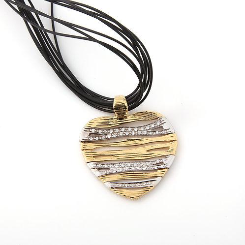 """Roberto Coin 18K Gold & Diamond Heart """"Elephantina"""" Collection"""