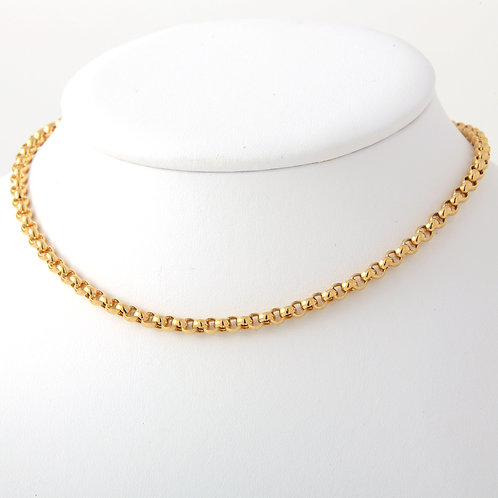 4mm Rolo Chain 18K Yellow Gold, 15""