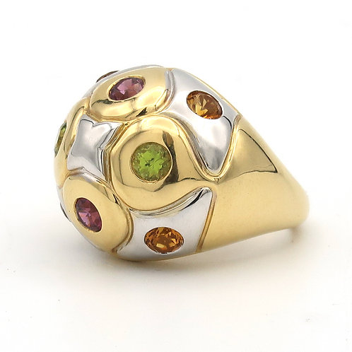 Bulgari Dome Ring 18k Semi-Precious Stones