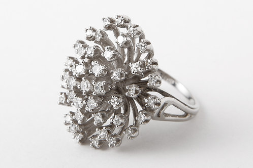 Vintage Gold Diamond Starburst Ring.