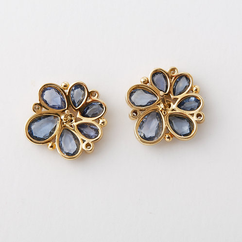 Temple St Clair 18K Spiral Flower Earrings
