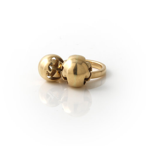 Gucci Ring 18K Yellow Gold with Dangling Ball Charms