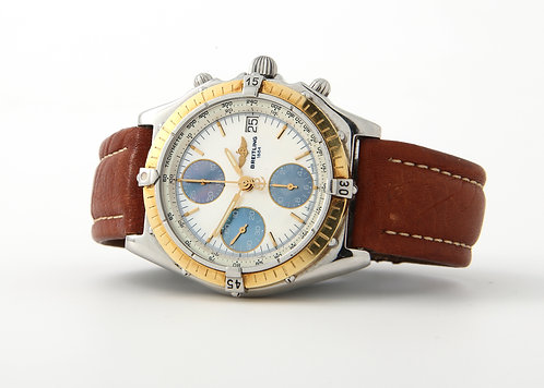 Breitling Chronomat Stainless & Gold Automatic Watch D13050 MOP Dial, Strap