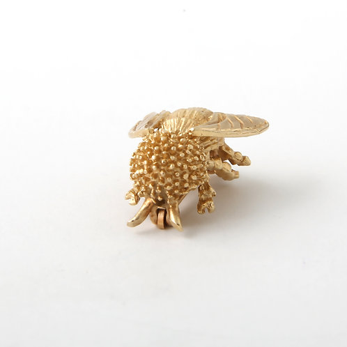Bumble Bee Brooch 14k Yellow Gold