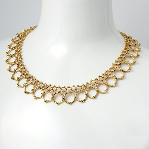 Tiffany & Co. Collar Necklace, 18K Yellow Gold Circular Links
