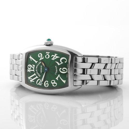Franck Muller Cintree Curvex Ladies Watch, SS Green Dial 1752 QZ