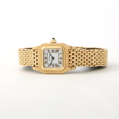 Cartier Ladies Mini Santos Watch 18K Yellow Gold 19x20mm