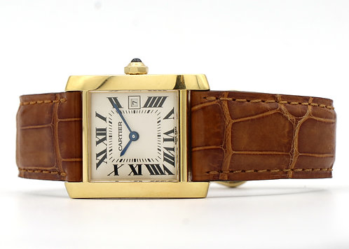 Cartier Tank Francaise Midsize 18k Yellow Gold Unisex Watch