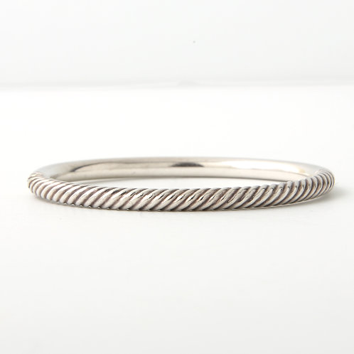 David Yurman Sterling Silver Hinged Bangle Bracelet
