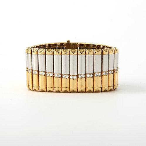 Michael Bondanza Carousel Bracelet PLAT/18K w/ Diamonds