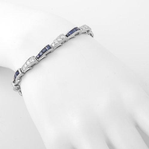 Diamond and Sapphire Bracelet Platinum