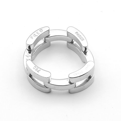 FRED PARIS Flexible Link Band 18K White Gold with Diamonds
