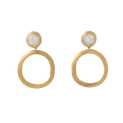 Marco Bicego Jaipur Circle Diamond Hoop Earrings 18K Yellow Gold