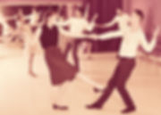 Young positive people dancing lindy hop