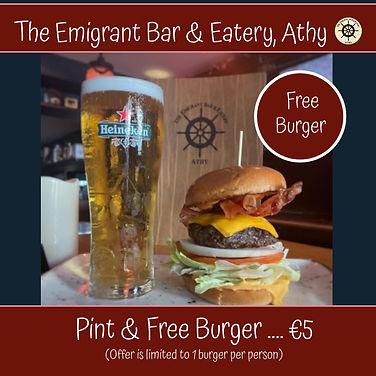 Burger & Pint of Heinken