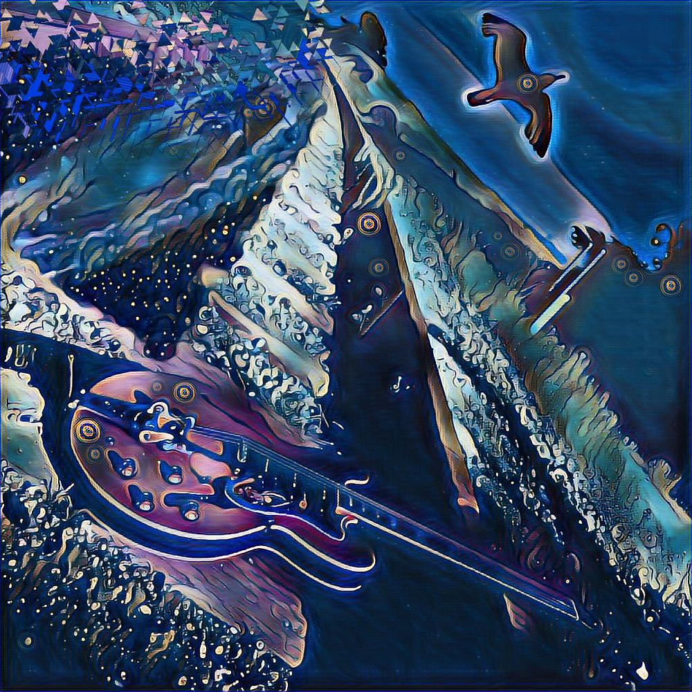 Guitar railroad space odyssey