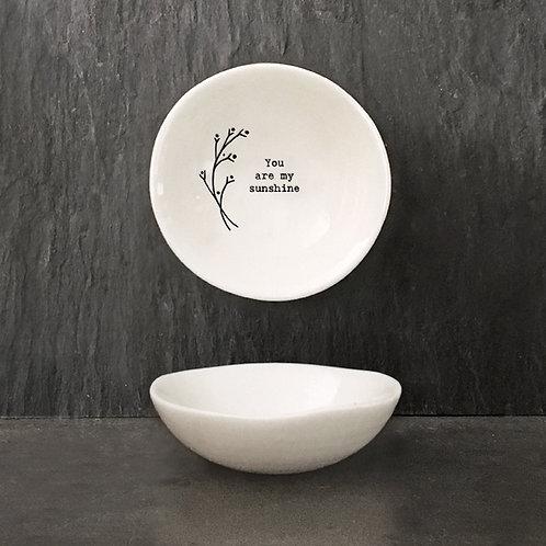 Small ' My Sunshine' Hedgerow Porcelain Bowl