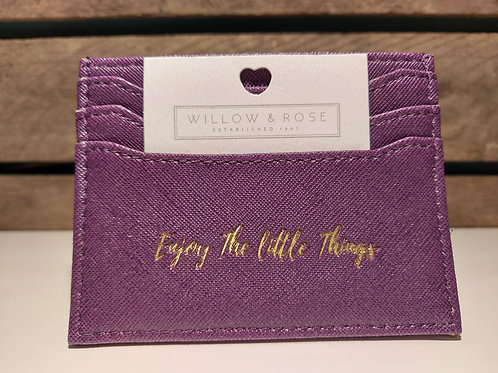 Willow & Rose 'Enjoy the Little Things' Card Holder
