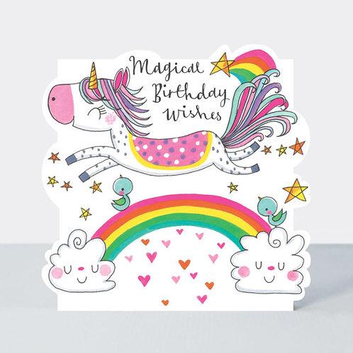 Unicorn & Rainbow Birthday Card